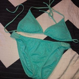 Green Triangle Bikini